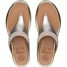 Image of FitFlop Australia PALE GOLD BANDA™ MICRO-CRYSTAL TOE-POST PALE GOLD