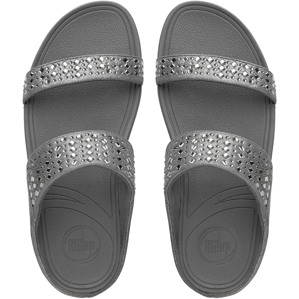 b1a8a118bd41 Image of FitFlop Australia PEWTER NOVY™ SLIDE PEWTER