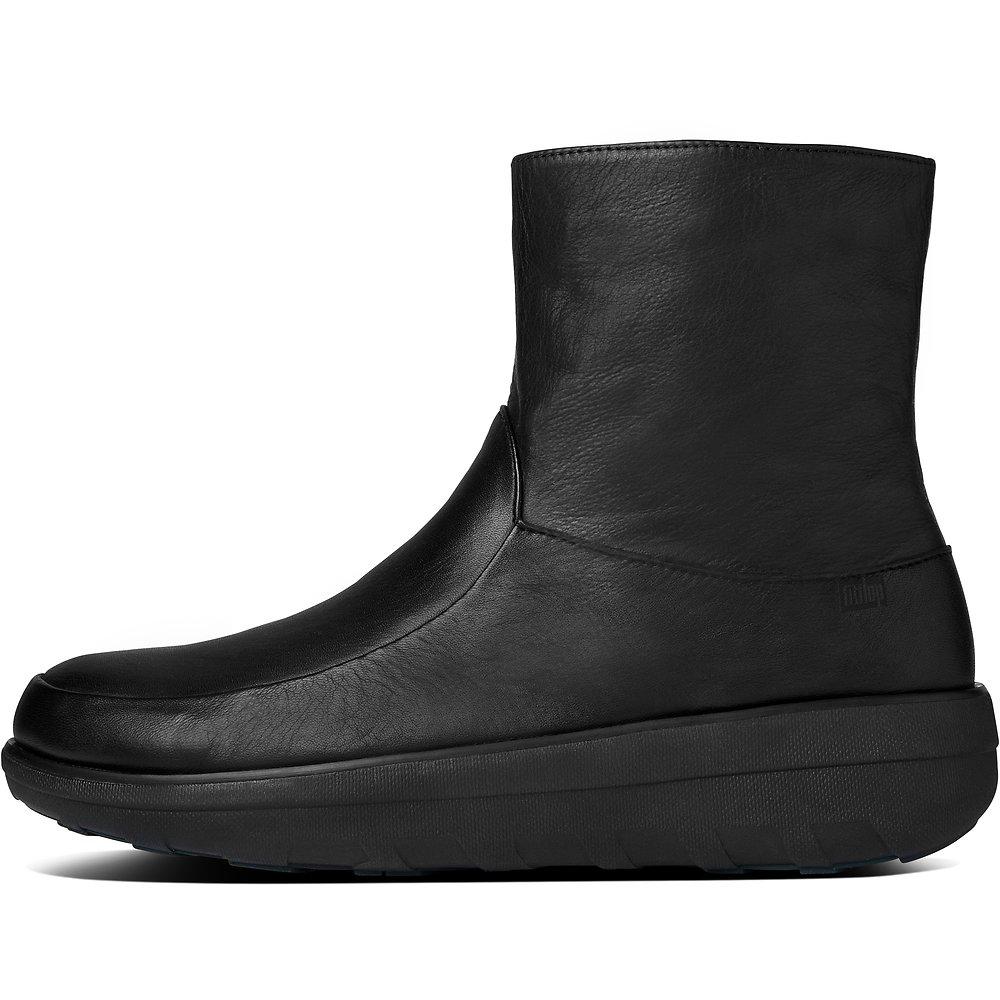 f974e2b0e3 Image of FitFlop Australia ALL BLACK LOAFF™ SHORTY ZIP BOOT BLACK
