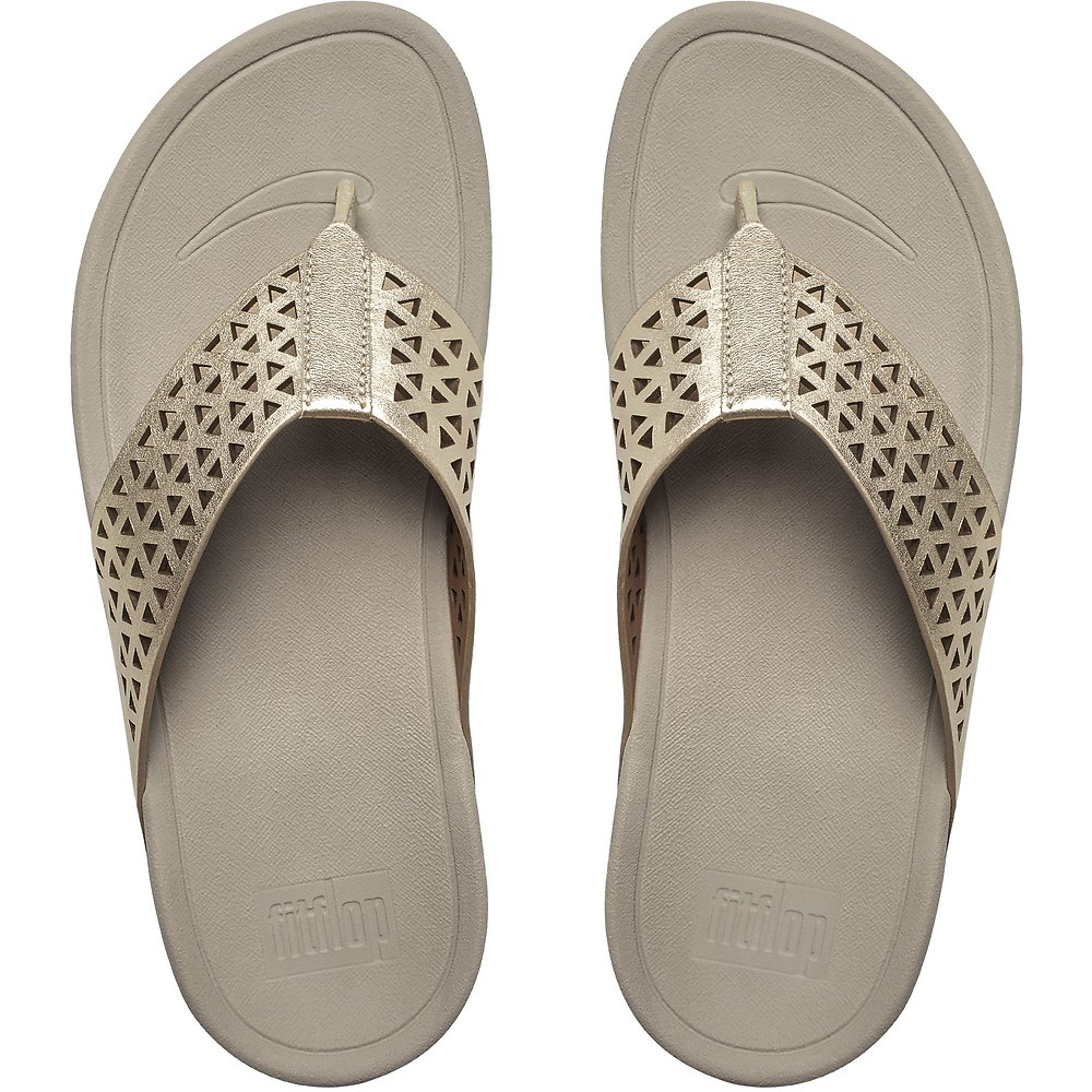 461d5952d Image of FitFlop Australia PALE GOLD LEATHER LATTICE SURFA™ PALE GOLD