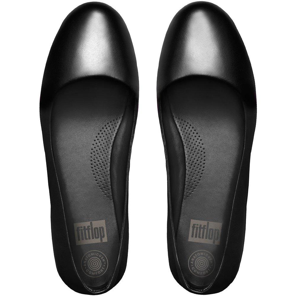 238bece3433f3 Image of FitFlop Australia ALL BLACK F-SPORTY™ BALLERINA ALL BLACK