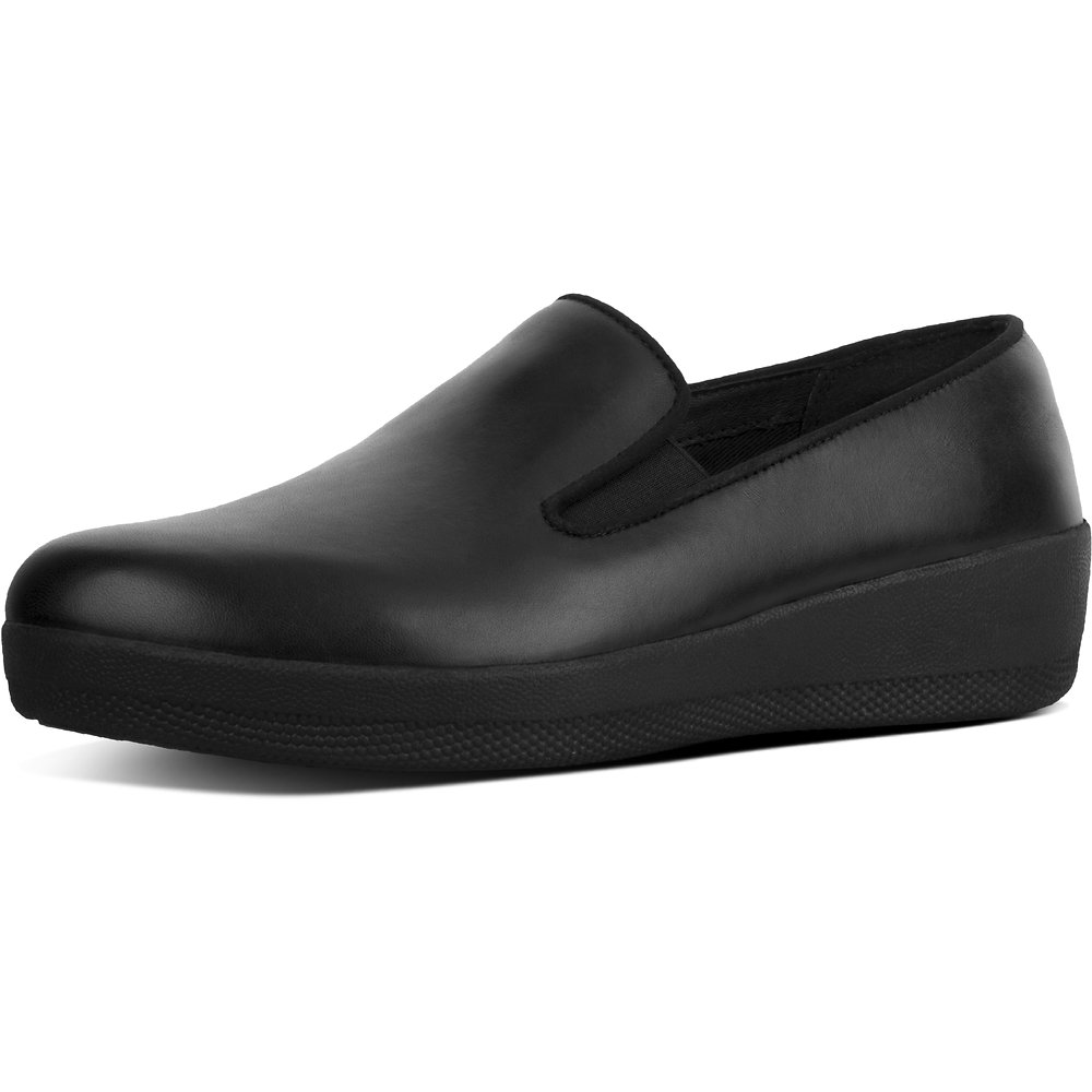 6f2e9580cf767b Image of FitFlop Australia ALL BLACK SUPERSKATE™ LEATHER LOAFERS ALL BLACK