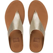 Image of FitFlop Australia PALE GOLD BANDA TOE-THONG SANDALS PALE GOLD