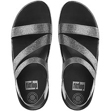 Image of FitFlop Australia PEWTER CRYSTALL Z-STRAP SANDALS PEWTER