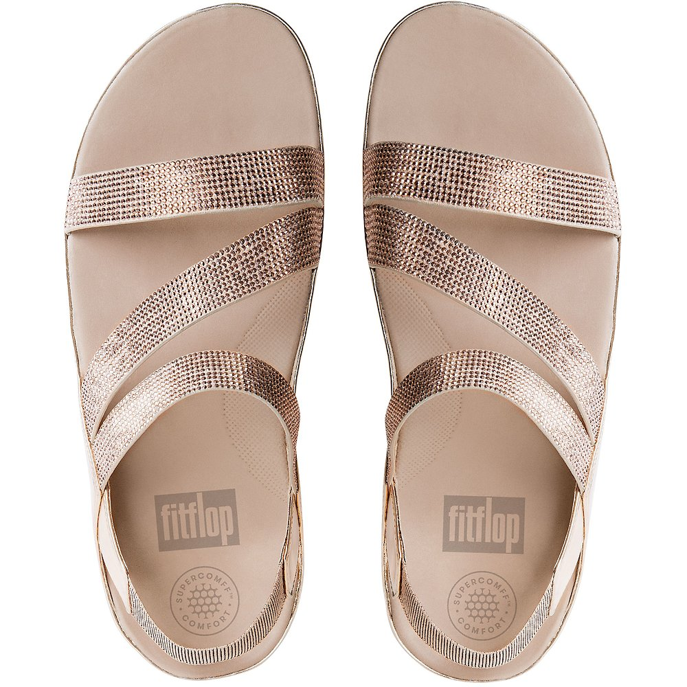 CRYSTALL Z-STRAP SANDALS ROSE GOLD | FitFlop Australia