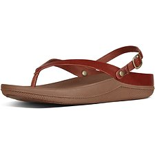 Picture of FLIP LEATHER TOE-THONG SANDALS DARK TAN