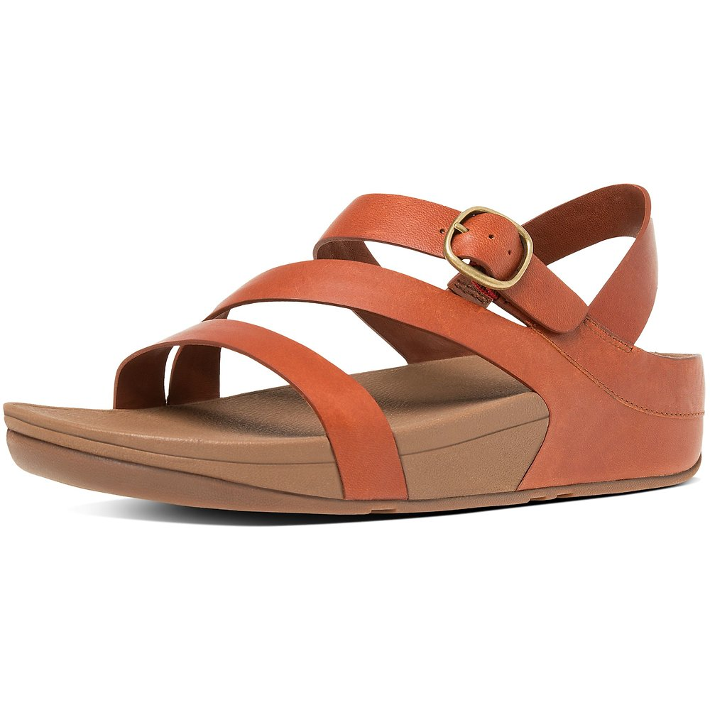 89701ab6c63b0b Image of FitFlop Australia DARK TAN THE SKINNY Z-STRAP LEATHER SANDALS DARK  TAN