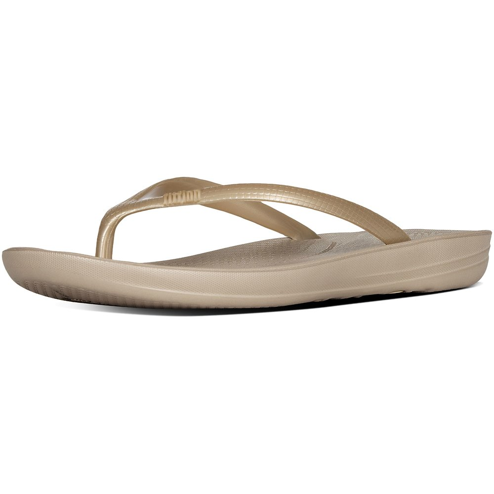 Image of FitFlop Australia GOLD IQUSHION™ ERGONOMIC FLIP-FLOPS GOLD