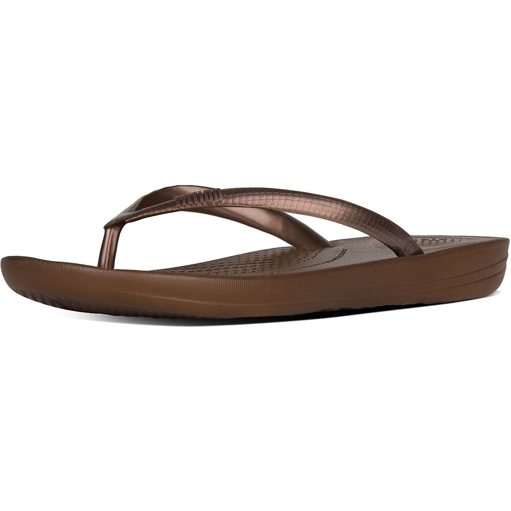 Image of FitFlop Australia BRONZE IQUSHION™ ERGONOMIC FLIP-FLOPS BRONZE