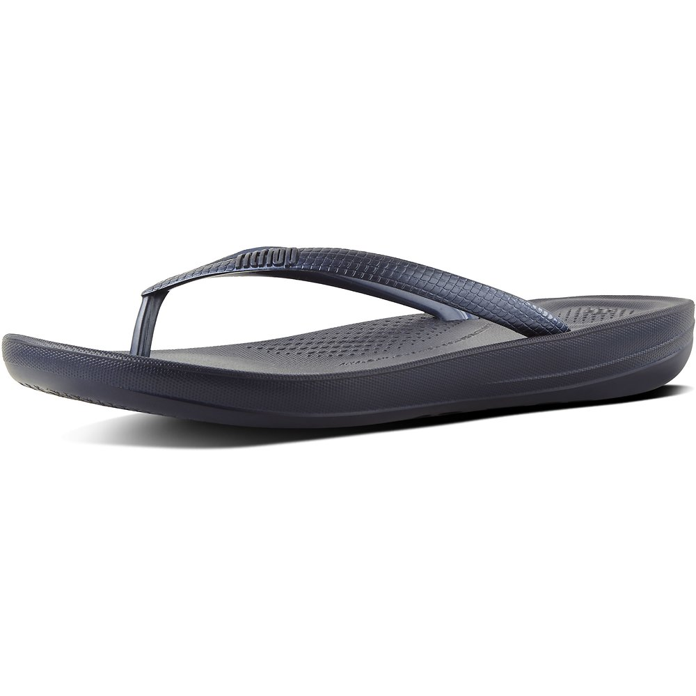 Image of FitFlop Australia MIDNIGHT NAVY IQUSHION™ ERGONOMIC FLIP-FLOPS NAVY