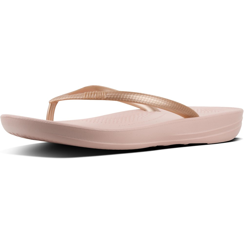 Image of FitFlop Australia ROSE GOLD IQUSHION™ ERGONOMIC FLIP-FLOPS ROSE GOLD