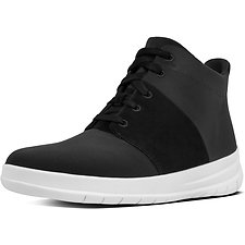 Image of FitFlop Australia BLACK SPORTY-POP X HIGH-TOP SNEAKERS BLACK