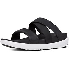 Image of FitFlop Australia BLACK LOOSH GLADIATOR SLIDE SANDALS BLACK
