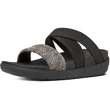 Picture of LOOSH GLADIATOR SLIDE SANDALS BLACK PEBBLE