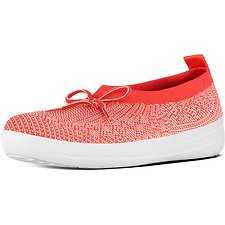 Picture of UBERKNIT SLIP ON BALLERINA WITH BOW HOT CORAL/NEON BLUSH
