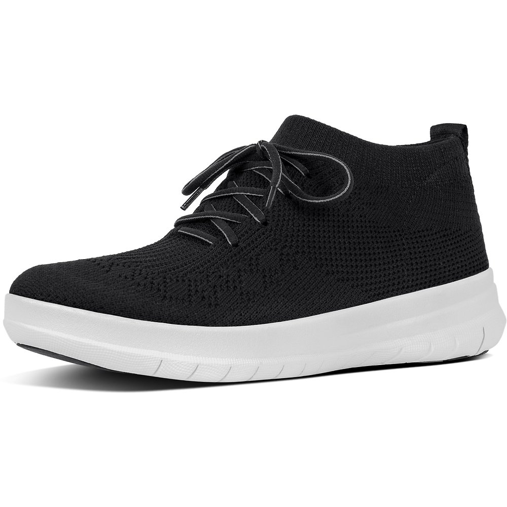 b8ca91f0d64e Image of FitFlop Australia BLACK UBERKNIT SLIP ON HIGH TOP SNEAKER BLACK