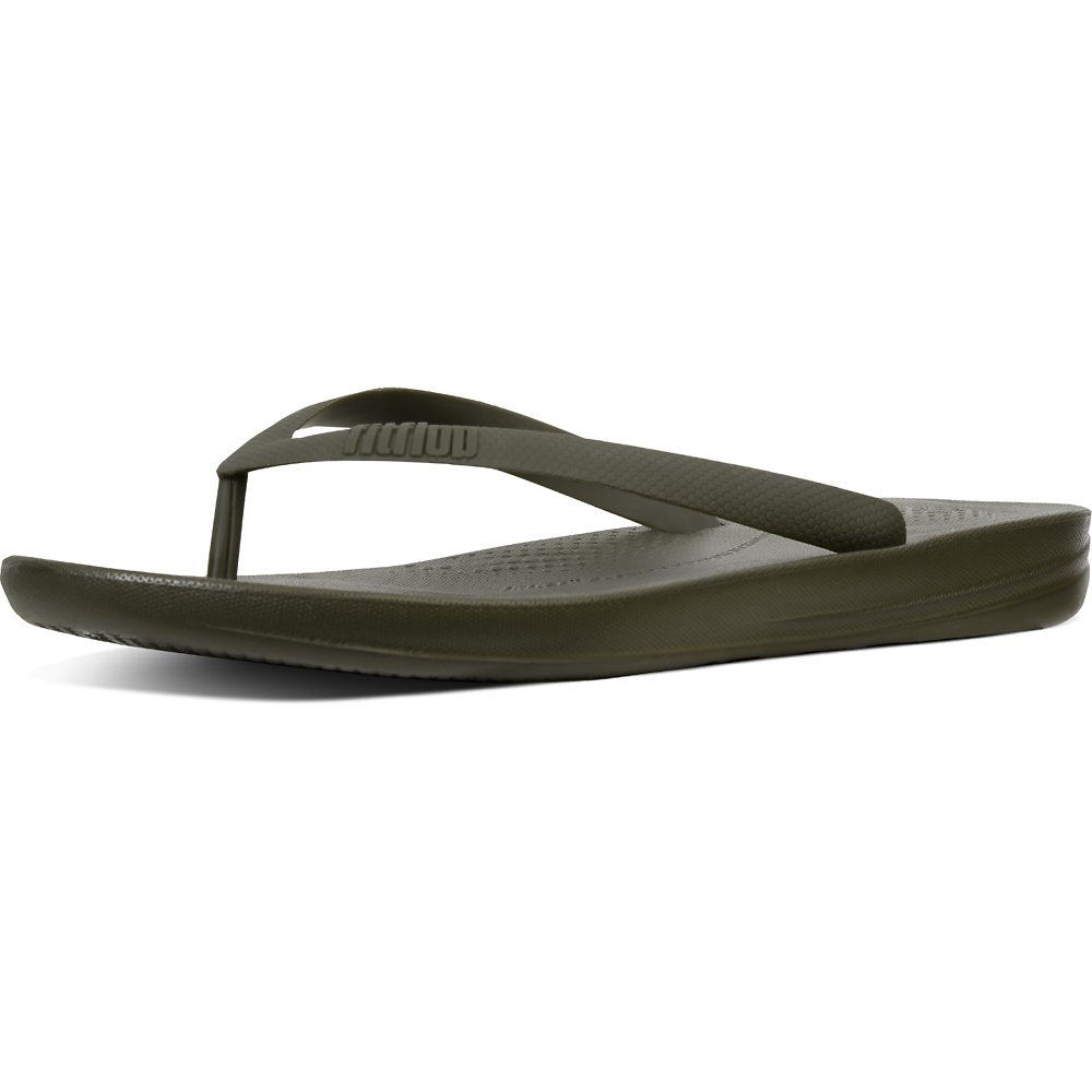 Image of FitFlop Australia CAMOUFLAGE GREEN MEN'S IQUSHION™ ERGONOMIC FLIP-FLOPS CAMOUFLAGE GREEN