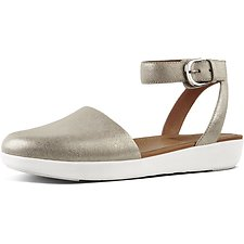Image of FitFlop Australia SILVER METALLIC COVA™ CLOSED-TOE SANDALS METALLIC