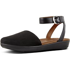 Image of FitFlop Australia BLACK COVA™ CLOSED-TOE SANDALS SUEDE BLACK