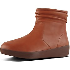 Image of FitFlop Australia CARAMEL SKATEBOOTIE™ LEATHER CARAMEL