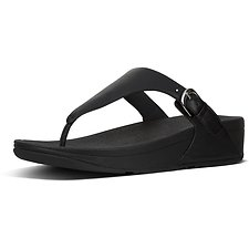 Image of FitFlop Australia BLACK SKINNY™ TOE-THONG SANDALS BLACK