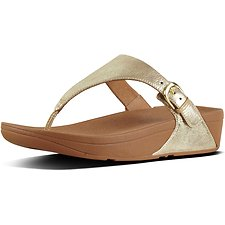 Image of FitFlop Australia PALE GOLD SKINNY™ TOE-THONG SANDALS PALE GOLD