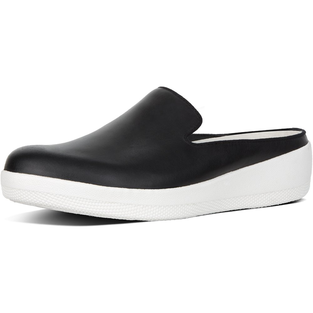 2e0db00d2b44 Image of FitFlop Australia BLACK SUPERSKATE™ SLIP-ON MULE LEATHER BLACK