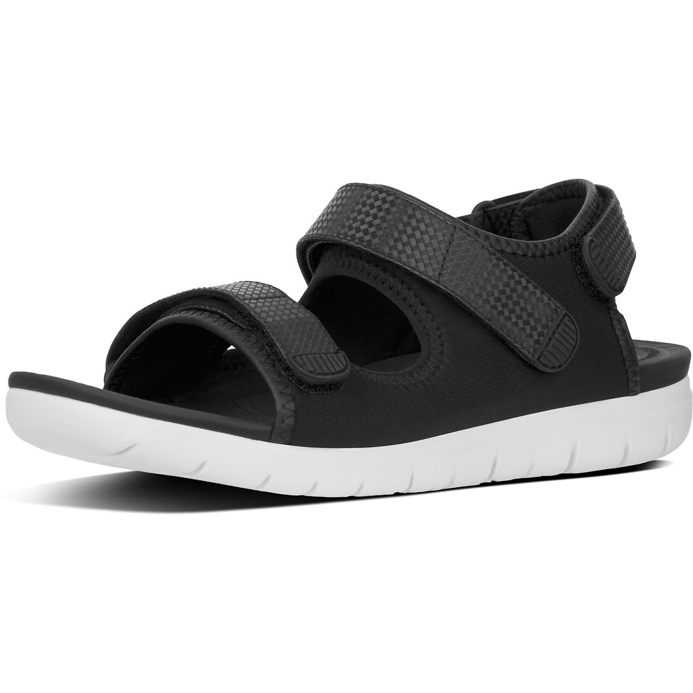 Image of FitFlop Australia BLACK MIX NEOFLEX™ SANDAL NEOPRENE BLACK MIX