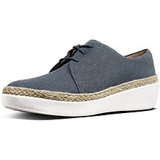 Image of FitFlop Australia BLUE SHIM DENIM SUPERDERBY™ LU SHOES BLUE SHIM DENIM
