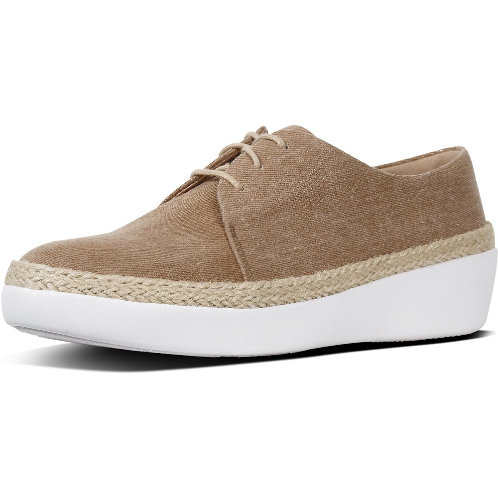 Image of FitFlop Australia SHIM DENIM BEIGE SUPERDERBY™ LU SHOES SHIMDENIM BEIGE