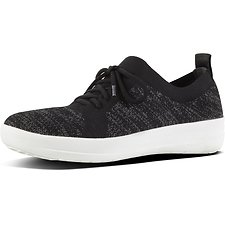 Image of FitFlop Australia BLACK F-SPORTY™ UBERKNIT SNEAKERS BLACK