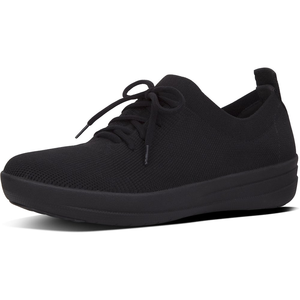 Image of FitFlop Australia ALL BLACK F-SPORTY™ UBERKNIT SNEAKERS ALL BLACK