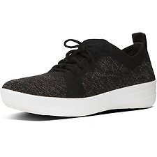 Image of FitFlop Australia BLACK/BRONZE METALLIC UBERKNIT™ LACE UP SNEAKER BLACK/BRONZE METALLIC