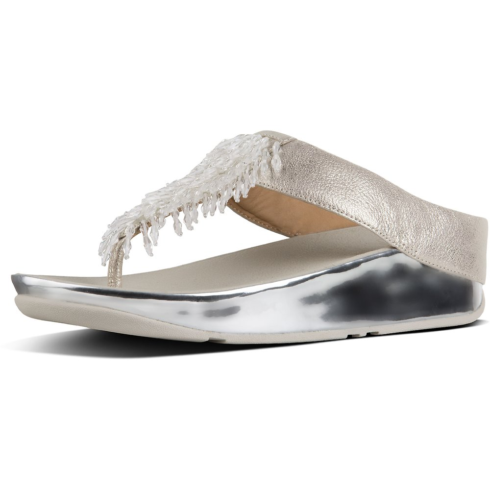 208fe731ef59 Image of FitFlop Australia SILVER METALLIC RUMBA™ TOE POST METALLIC SILVER