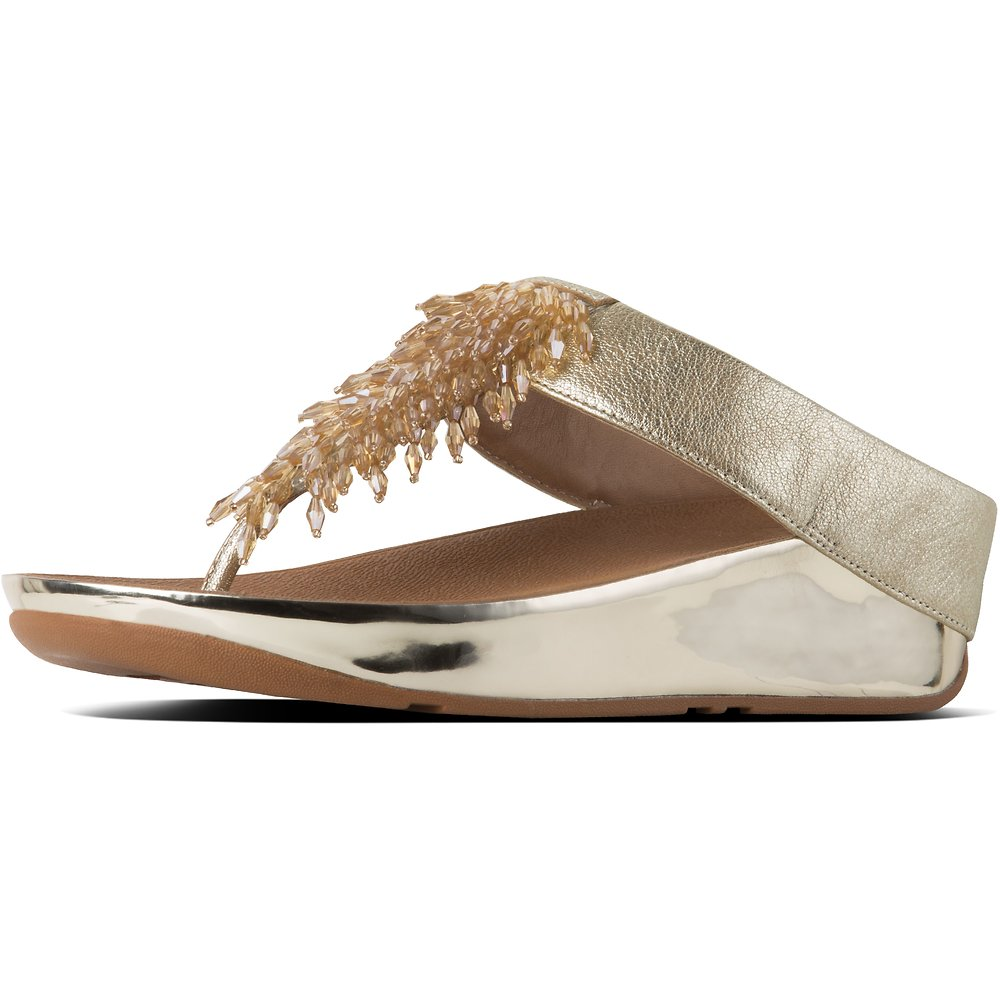 6df2069ef80f Image of FitFlop Australia METALLIC GOLD RUMBA™ TOE POST METALLIC GOLD