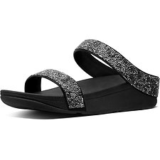 Image of FitFlop Australia BLACK QUARTZ FINO SLIDE BLACK