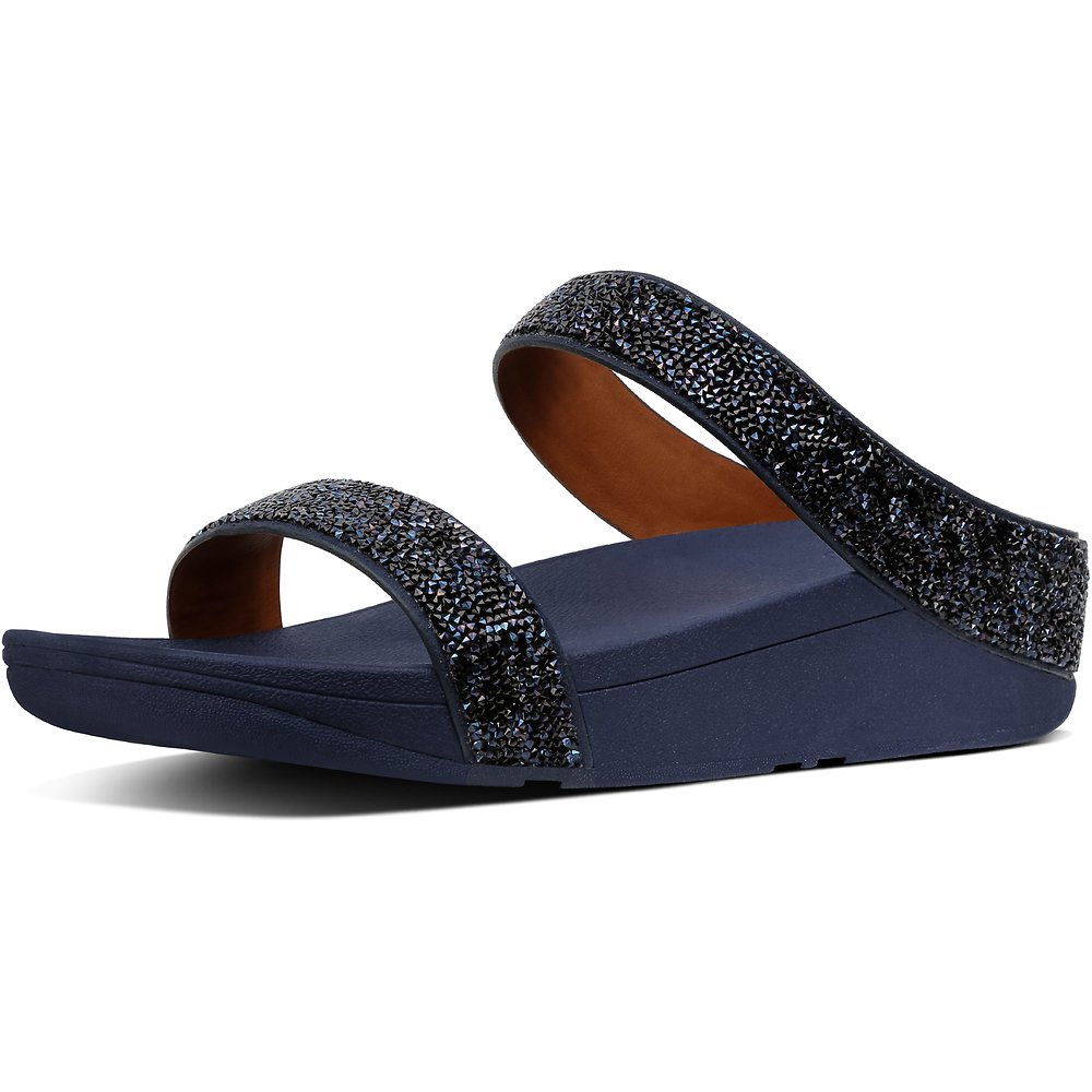 Image of FitFlop Australia MIDNIGHT NAVY QUARTZ FINO SLIDE MIDNIGHT NAVY