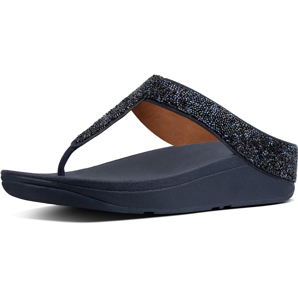 Image of FitFlop Australia MIDNIGHT NAVY QUARTZ FINO TOE POST MIDNIGHT NAVY
