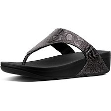 Image of FitFlop Australia BLACK EXOTIC LULU TOE POST BLACK