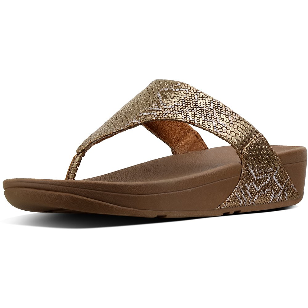 Image of FitFlop Australia BRONZE EXOTIC LULU™ TOE POST BRONZE
