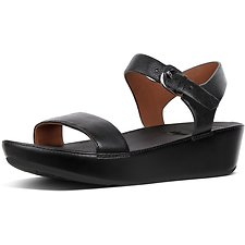 Image of FitFlop Australia BLACK BON™ II SANDAL LEATHER BLACK