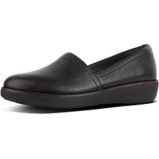 Image of FitFlop Australia BLACK CASA™ LEATHER LOAFERS BLACK