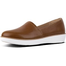 Image of FitFlop Australia TUMBLED TAN CASA™ LEATHER LOAFERS TUMBLED TAN