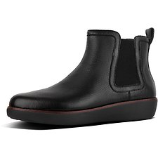 Image of FitFlop Australia BLACK CHAI™ LEATHER CHELSEA BOOTS BLACK