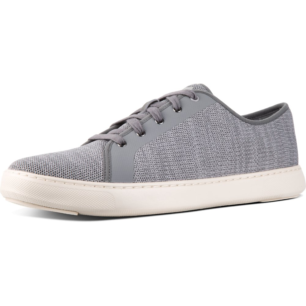 Image of FitFlop Australia CHARCOAL MEN'S CHRISTOPHE™ KNIT SNEAKER CHARCOAL GREY