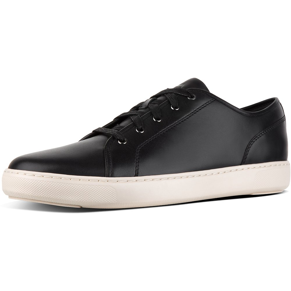 Image of FitFlop Australia BLACK MEN'S CHRISTOPHE™ LEATHER SNEAKERS BLACK