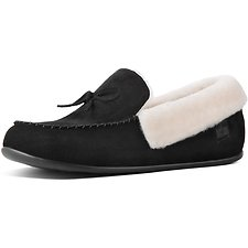 Image of FitFlop Australia BLACK SHEARLING™ SLIPPER SHOE BLACK