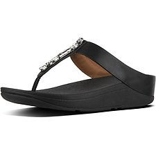 Image of FitFlop Australia BLACK GALAXY JEWEL FINO TOE POST BLACK