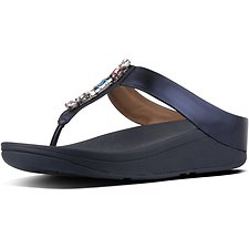 Image of FitFlop Australia METEOR BLUE GALAXY JEWEL FINO TOE POST METEOR BLUE