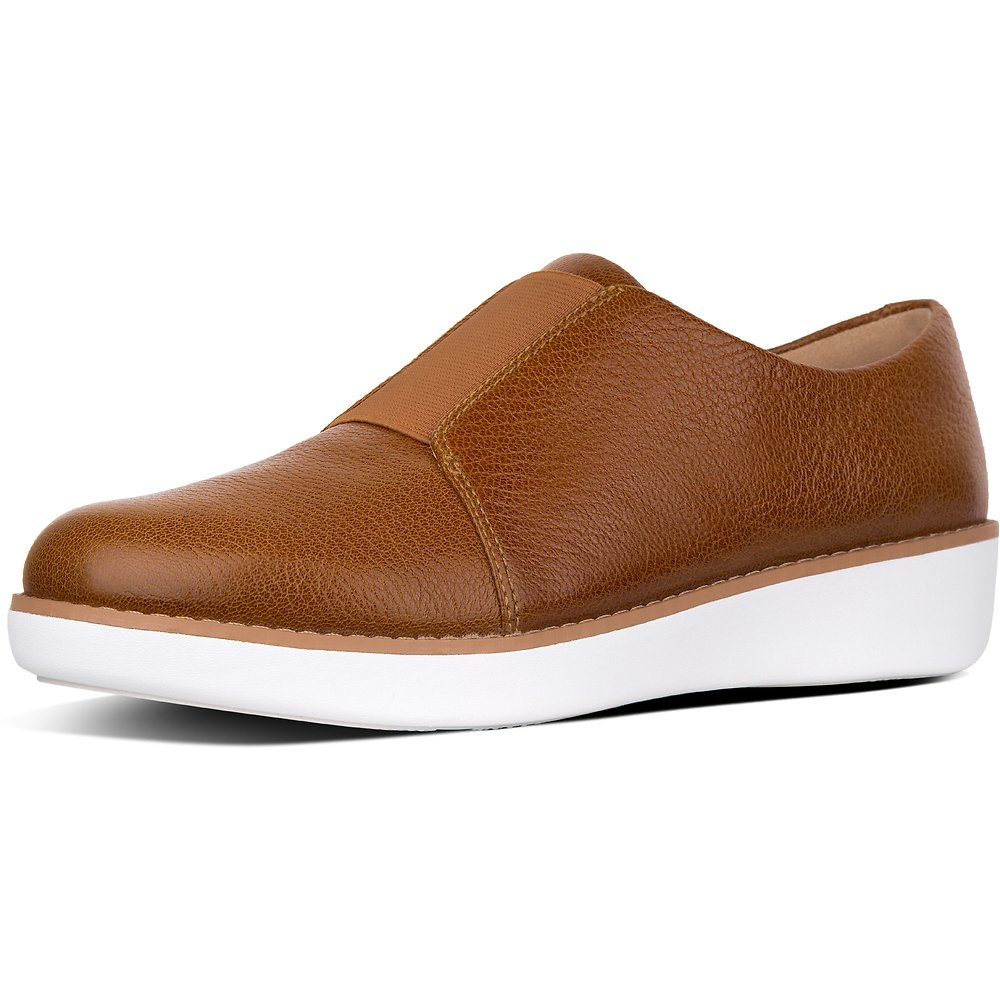 Image of FitFlop Australia TUMBLED TAN LACELESS™ DERBY LEATHER SHOES TUMBLED TAN